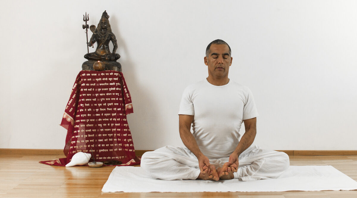 Baddha Konasana asana yoga online